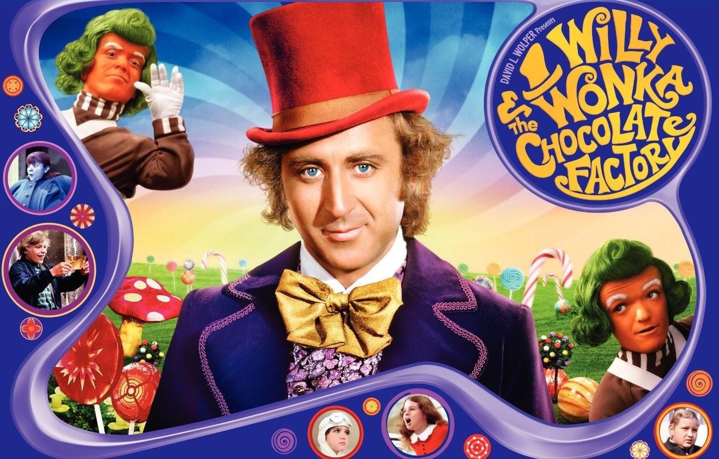 Filmes antigos costumavam ser mais coloridos, como a Fantástica Fábrica de Chocolate