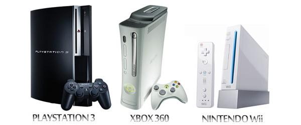 Playstation 3, Xbox 360 e Nintendo Wii