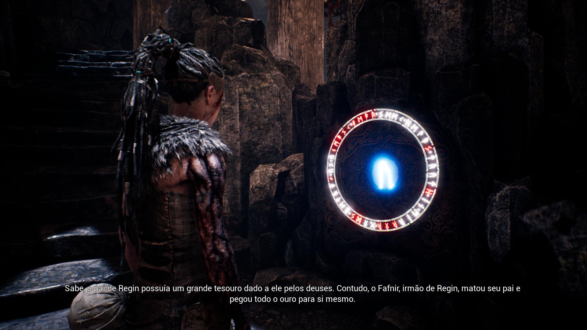 Acessando um dos pontos para ver a estória do Ragnarok