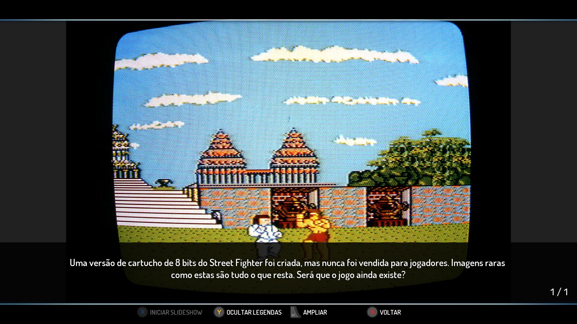 Curiosidade do Street Fighter 1, foi planejado uma versão para sistemas de 8 Bits (Nintendinho)